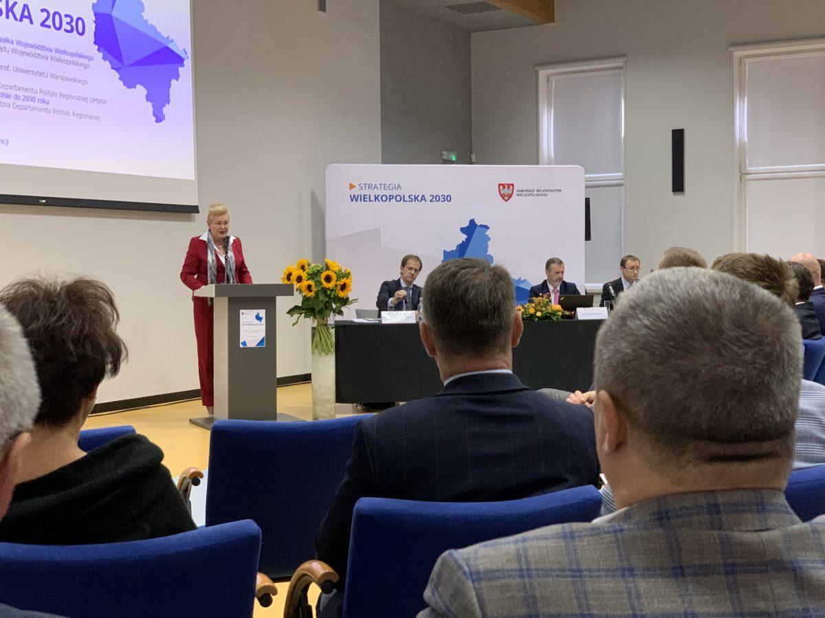 Przemówienie Marzeny Wodzińskiej z Zarządu Województwa Wielkopolskiego.